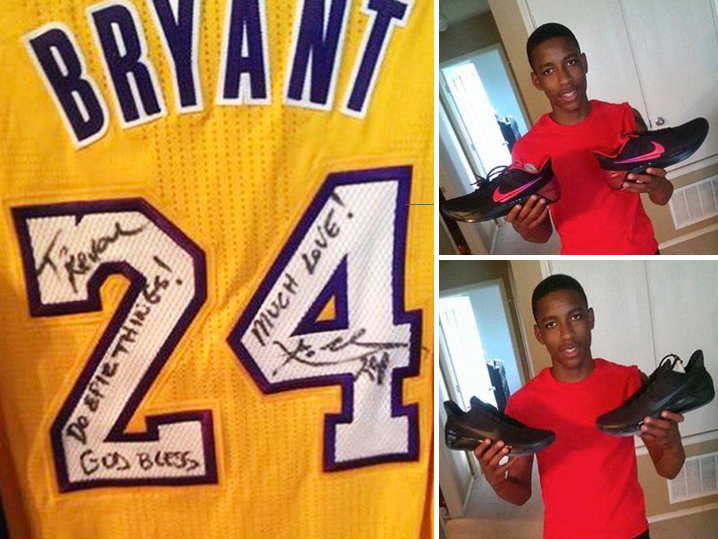 Kobe Bryant Sends Gifts To Brother Of Teen Killed By Police Officer