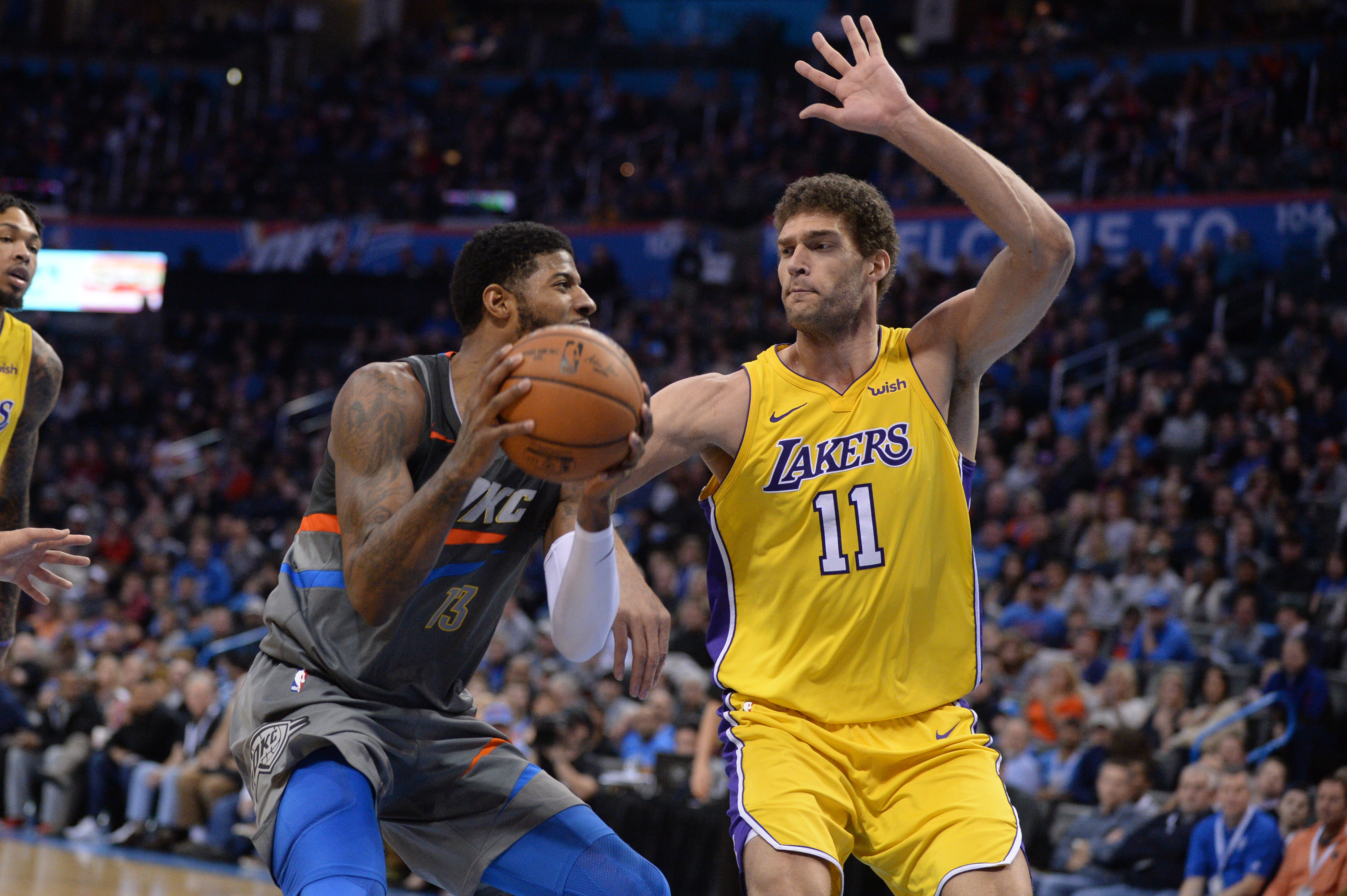 With Westbrook and Carmelo injured, Thunder get clobbered by Lakers